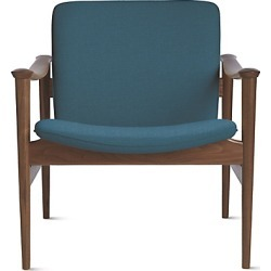 L.K. Hjelle Møbelfabrikk Modell 711 Chair, Blue at DWR found on Bargain Bro India from Design Within Reach for $2795.00