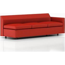 Bevel Sofa - Red, Two Seat Sofa