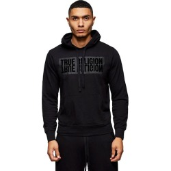 Men's Mirror Logo Hoodie | Black/Black | Size XX Large | True Religion