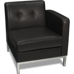 Wall Street Right Single Arm Chair in Faux Leather - Office Star found on Bargain Bro Philippines from officefurniture.com for $272.00