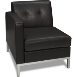 Wall Street Left Single Arm Chair in Faux Leather - Office Star found on Bargain Bro Philippines from officefurniture.com for $293.00
