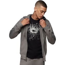 Men's Graphic Zip Hoodie | Charcoal | Size XX Large | True Religion