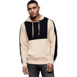 Men's Color Block Hoodie | Beige/Black | Size XX Large | True Religion