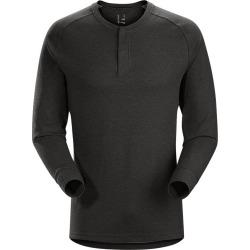 Arc'teryx Men's Sirrus Henley Long Sleeve Shirt - Black - Prior Season
