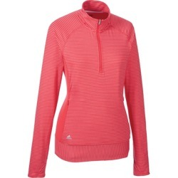 Adidas Women's Rangewear Half-Zip Long Sleeve Top - Pink XL