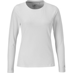 Puma Women's Crew Long Sleeve Top - WHITE LARGE
