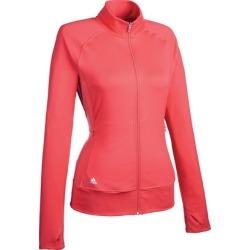 Adidas Women's Rangewear Full-Zip Long Sleeve Top - Pink LARGE