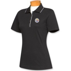 Cutter & Buck Pittsburgh Steelers Womens Cutter Tipped Polo