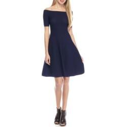 Michael Kors Off Shoulder Texture Dress