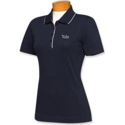 Cutter & Buck Yale Bulldogs Womens Cutter Tipped Polo
