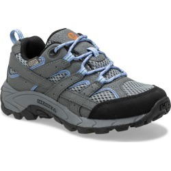 Merrell Kid's Moab 2 Low Lace Waterproof Sneaker, Size: 11, Grey/Periwinkle found on Bargain Bro from Merrell for USD $45.60