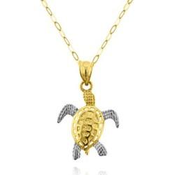 Belk & Co.  10k Two-Tone Gold Turtle Pendant