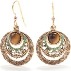 Silver Forest  Gold-Tone Loop Drop Earrings