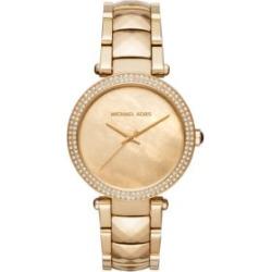 Michael Kors Women's Parker Gold-Tone Three-Hand Watch