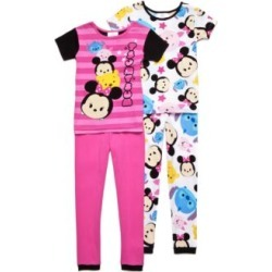 "Disney  Minnie Mouse ""Tsum Tsum"" Stars Pajamas Girls 4-10"