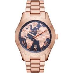 Michael Kors Women's Layton Rose Gold-Tone Three-Hand Watch
