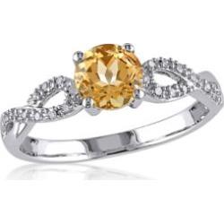 Belk & Co.  Yellow Beryl & Diamond Ring