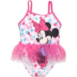 Disney  Minnie Mouse 1-Piece Tutu Swimsuit Toddler Girls