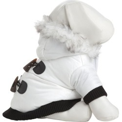 Pet Life Winter White Snow Parka Dog Coat MD found on Bargain Bro India from Dog.com for $38.99