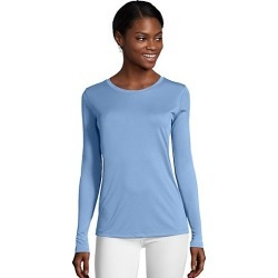 Hanes Sport Cool DRI Women's Performance Long-Sleeve T-Shirt Light Blue XL found on Bargain Bro India from Hanes Underwear for $6.00