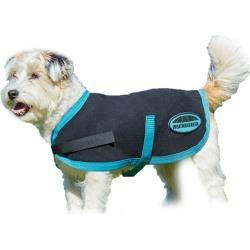 WeatherBeeta Fleece Dog Coat 20 Black/Turquoise