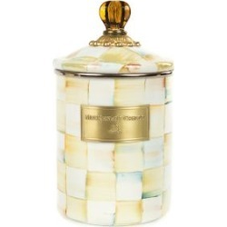 MacKenzie-Childs Parchment Check Enamel Canister - Medium found on Bargain Bro India from mackenzie-childs for $88.00
