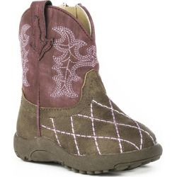 Roper Cowbabies Cross Cut Infant Raspberry Boots 4 found on Bargain Bro India from Horse.com for $39.99