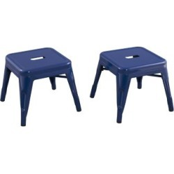 Ace Bayou Reservation Seating Marley Kids Stool - Set of 2, Navy Navy