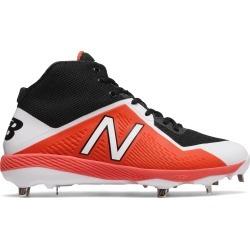 New Balance Mid-Cut 4040v4 Metal Baseball Cleat Mens Shoes Orange with Black