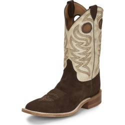 Justin Mens Clinton Sq Boots 11 EE Dark Brown found on Bargain Bro India from StateLineTack.com for $209.95