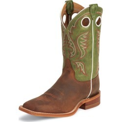 Justin Mens Bent Rail Sq Toe Boots 9D Green found on Bargain Bro India from StateLineTack.com for $182.18