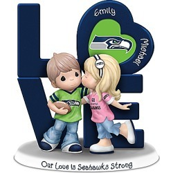 Precious Moments Our Love Is Seahawks Strong Personalized NFL Figurine found on Bargain Bro India from Bradford Exchange for $89.98