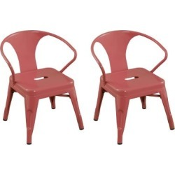 Ace Bayou Reservation Seating Marley Kids Chair - Set of 2, Pink Pink