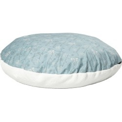 Quiet Time Script Blue Round Pillow Dog Bed 34in found on Bargain Bro India from Horse.com for $35.49