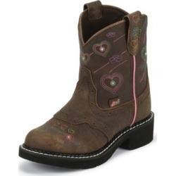 Justin Junior Gypsy Round Toe Brown Heart Boots 9. found on Bargain Bro India from StateLineTack.com for $79.95