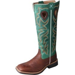Twisted X Kids Sq Toe Cog/Turq Buckaroo Boots 2 found on Bargain Bro from Horse.com for USD $91.16