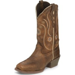 Justin Ladies Narrow Sq Brn Buff Boots 6.5 B found on Bargain Bro India from Horse.com for $102.18