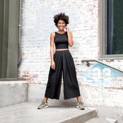 New Balance 91478 Women's Well Being Culotte - Black (WP91478BK)