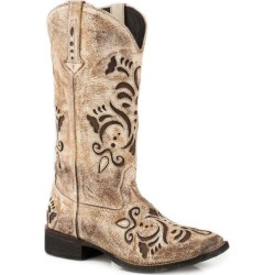 Roper Ladies Belle Square Toe Tan Boots 8.5 found on Bargain Bro India from Horse.com for $162.99