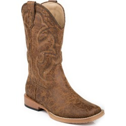 Roper Youth Scout Sq Toe Distressed Tan Boots 6 found on Bargain Bro India from Horse.com for $66.99
