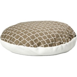 Quiet Time Teflon Brown Round Dog Bed 34in found on Bargain Bro India from Horse.com for $35.49