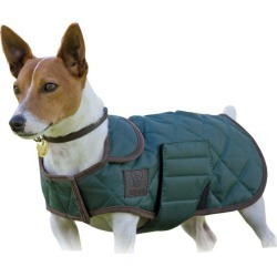 Digby and Fox Quilted Coat Small Dark Green