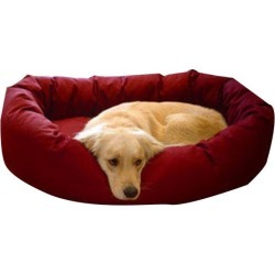 Majestic Pet Denier Bagel Dog Bed Small Burgundy
