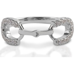 Kelly Herd Clear Stones Horseshoe Bit Ring 7 found on Bargain Bro India from Horse.com for $99.00