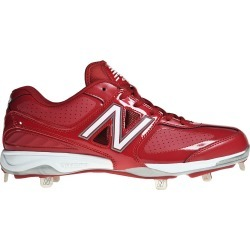 New Balance Low Cut Cleat Mens Shoes Red with White