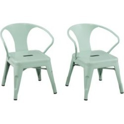 Ace Bayou Reservation Seating Kids Chair - Set of 2, Mint Green