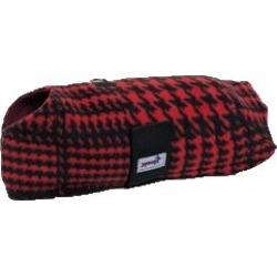 Snugpups Red Houndstooth Fleece Dog Coat XS