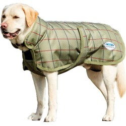 WeatherBeeta Parka 1200 Deluxe Dog Coat 12 Olive T