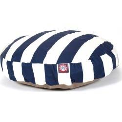 Majestic Pet Outdoor Navy Stripe Round Pet Bed MD
