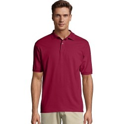 Hanes Men's Cotton-Blend EcoSmart Jersey Polo Cardinal L found on Bargain Bro Philippines from Hanes Underwear for $7.00